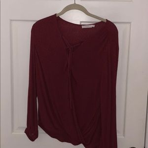 lace up top - red size small